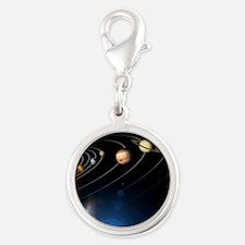 solarsystem2jpg Silver Round Charm