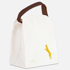 Tri Harder Three Legged GSD Dark  Canvas Lunch Bag