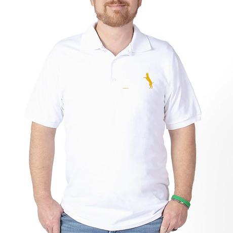 Tri Harder Three Legged GSD Dark BKG Golf Shirt