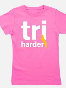 Tri Harder Three Legged GSD Dark BKG Girl's Tee