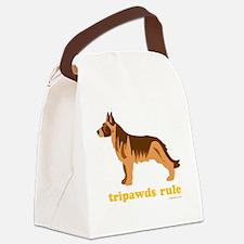 Tripawds Rule Three Legged GSD Da Canvas Lunch Bag
