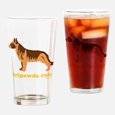 Tripawds Rule Three Legged GSD Dark Drinking Glass