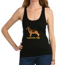 Tripawds Rule Three Legged GSD  Racerback Tank Top
