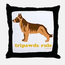Tripawds Rule Three Legged GSD Dark B Throw Pillow