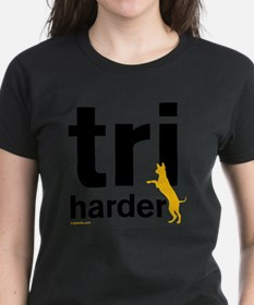 Tri Harder Three Legged GSD W Tee