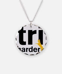 Tri Harder Three Legged GSD  Necklace