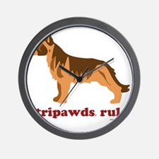Tripawds Rule Three Legged GSD White BK Wall Clock