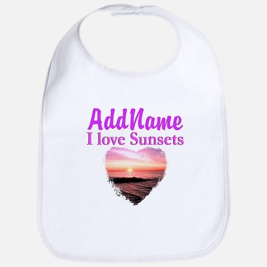 LOVE SUNSETS Bib