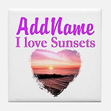 LOVE SUNSETS Tile Coaster