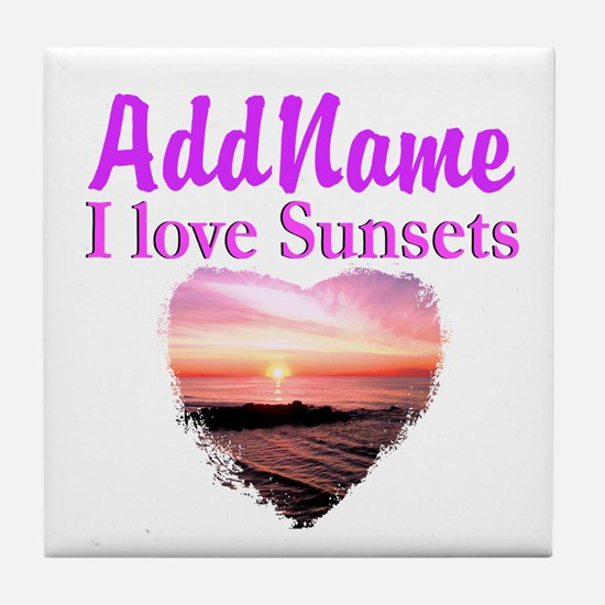 LOVE SUNSETS Tile Coaster
