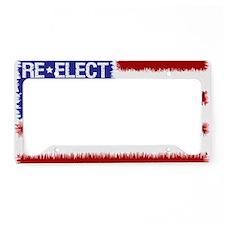 re-elect obama 2012 flag License Plate Holder