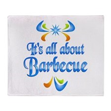About Barbecue Throw Blanket