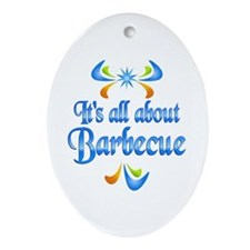 About Barbecue Ornament (Oval)