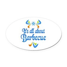 About Barbecue Oval Car Magnet