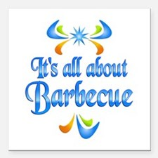 "About Barbecue Square Car Magnet 3"" x 3"""