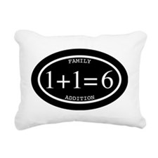 Family Addition Oval Inv Rectangular Canvas Pillow