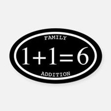 Family Addition Oval Inverted 6 Oval Car Magnet