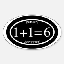 Family Addition Oval Inverted 6 Decal