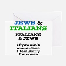 Jews and Italians Greeting Cards