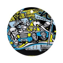 (HYPHY) GHOST RIDE THE WHIP Ornament (Round)