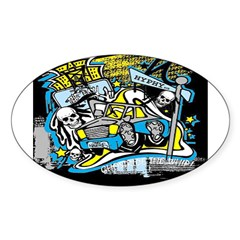 (HYPHY) GHOST RIDE THE WHIP Oval Decal