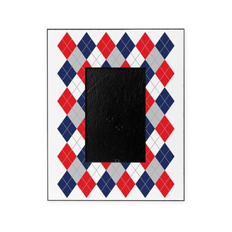 Norwegian Curling Argyle pattern Picture Frame