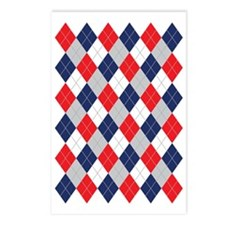 Norwegian Curling Argyle  Postcards (Package of 8)