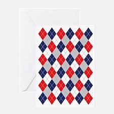 Norwegian Curling Argyle pattern Greeting Card