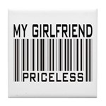 My Girlfriend Priceless Valentine Tile Coaster