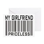 My Girlfriend Priceless Valentine Greeting Cards (