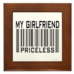 My Girlfriend Priceless Valentine Framed Tile