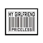My Girlfriend Priceless Valentine Framed Panel Pri