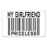 My Girlfriend Priceless Valentine Sticker (Rectang