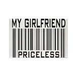 My Girlfriend Priceless Valentine Rectangle Magnet