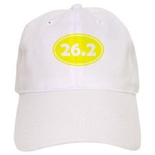 Yellow 26.2 Oval Baseball Baseball Cap