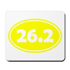 Yellow 26.2 Oval Mousepad