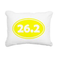 Yellow 26.2 Oval Rectangular Canvas Pillow