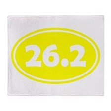 Yellow 26.2 Oval Throw Blanket