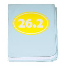 Yellow 26.2 Oval baby blanket
