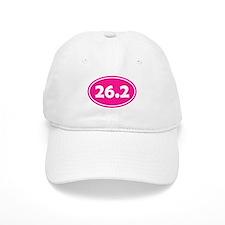 Pink 26.2 Oval Baseball Baseball Cap