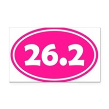 Pink 26.2 Oval Rectangle Car Magnet