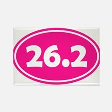 Pink 26.2 Oval Magnets