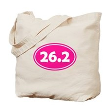 Pink 26.2 Oval Tote Bag