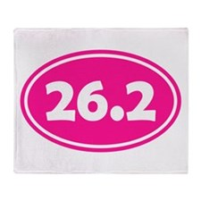 Pink 26.2 Oval Throw Blanket