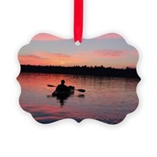 Kayaking at Sunset Ornament