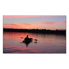 Kayaking at Sunset Decal