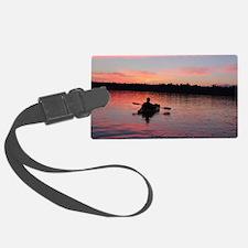 Kayaking at Sunset Luggage Tag