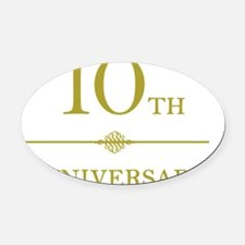gold10 Oval Car Magnet