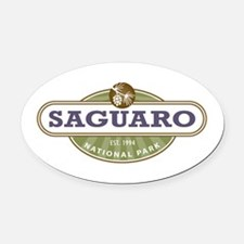 Saguaro National Park Oval Car Magnet