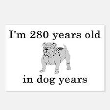 40 birthday dog years bulldog 2 Postcards (Package